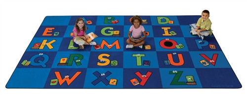 Reading Letters Library Rug Rectangle - 8 ft. 4 in. x 13 ft. 4 in.