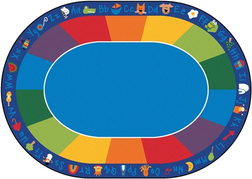 Fun with Phonics Seating Rug Oval - 8 ft. 3 in. x 11 ft. 8 in.