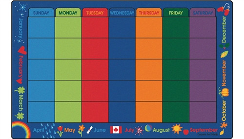 Canadian Calendar Celebrations Rectangle - 7 ft. 6 in. x 12 ft.