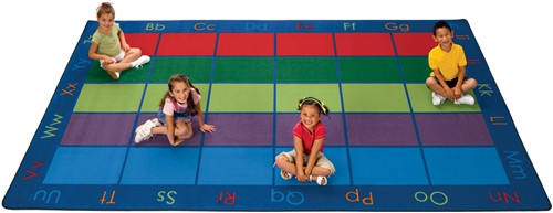 Colorful Places Seating Rug 30 Seats Rectangle - 7 ft. 6 in. x 12 ft.