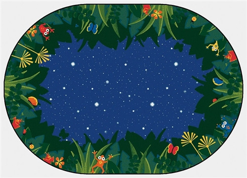 Peaceful Tropical Night Oval - 8 Ft. x 12 Ft.