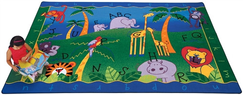 Alphabet Jungle Rectangle - 4 ft. 5 in. x 5 ft. 10 in.