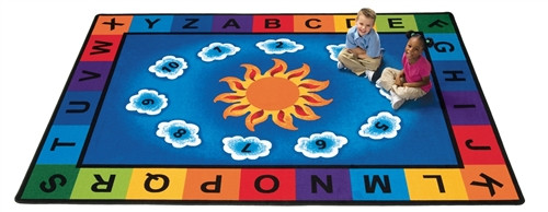Sunny Day Learn and Play Rectangle - 4 ft. 5 in.  x 5 ft. 10 in.
