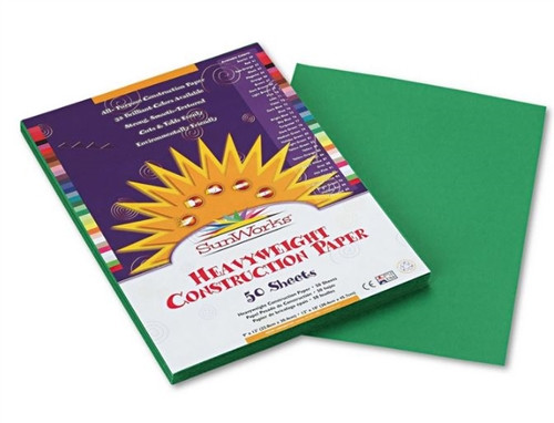 Sunworks Holiday Green 50 Ct Construction Paper - 9 in. x 12 in.