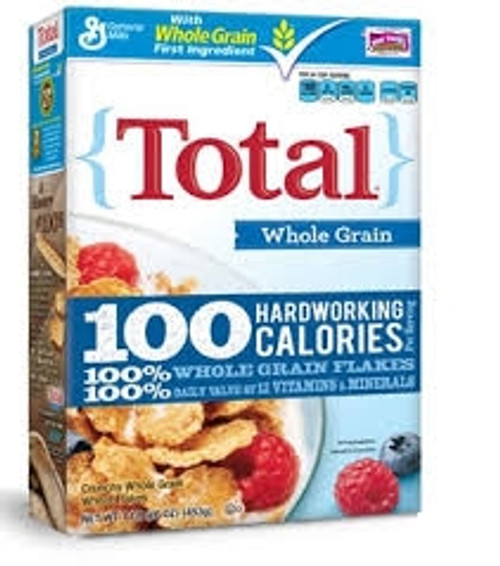 General Mills Total Whole Grain Cereal -16 oz. Box