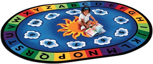 Sunny Day Learn and Play Oval - 6 ft. 9 in.  x 9 ft. 5 in.