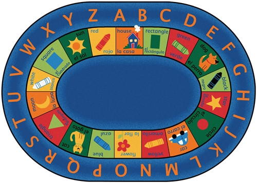 Bilingual Circletime Rug Oval - 6 ft. 9 in. x 9 ft. 5 in.