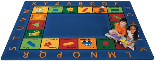 Bilingual Circletime Rug Rectangle - 8 ft. 4 in. x 11 ft. 8 in.