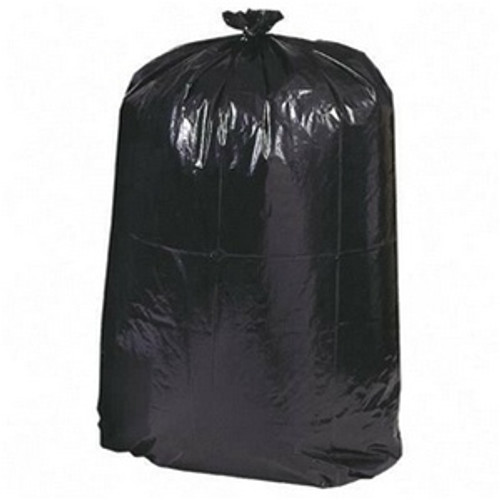 43x47 Inch 55 Gallon Black Heavyweight Canliners