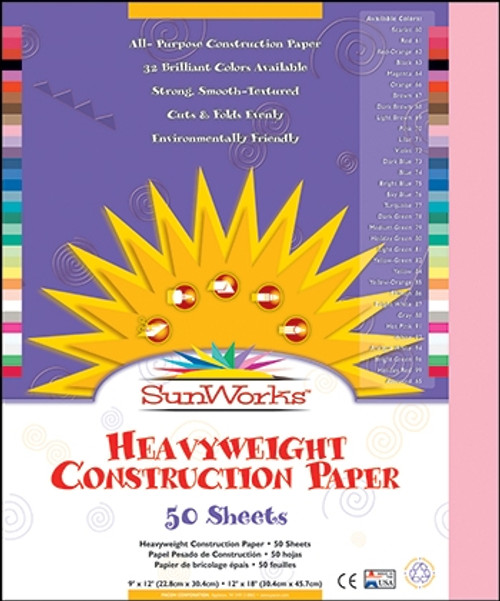 Construction Paper Pink - 9 in. x 12 in.