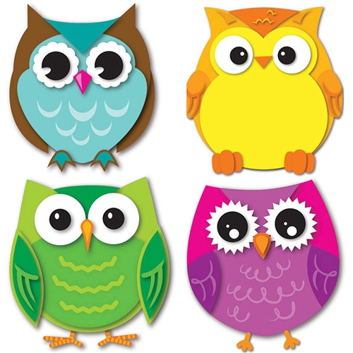 Colorful Owls Cut Outs