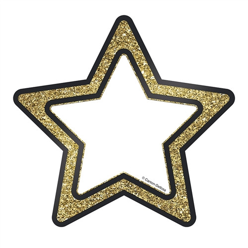 Gold Glitter Stars Sparkle And Shine Cut Outs