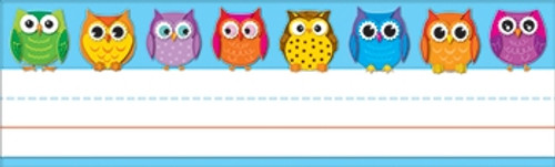 Colorful Owls Nameplates 36 Ct