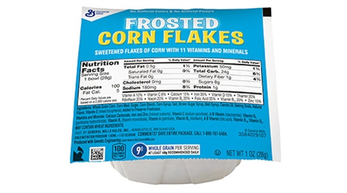 Frosted Corn Flakes Whole Grain Cereal 1oz. Bowlpak