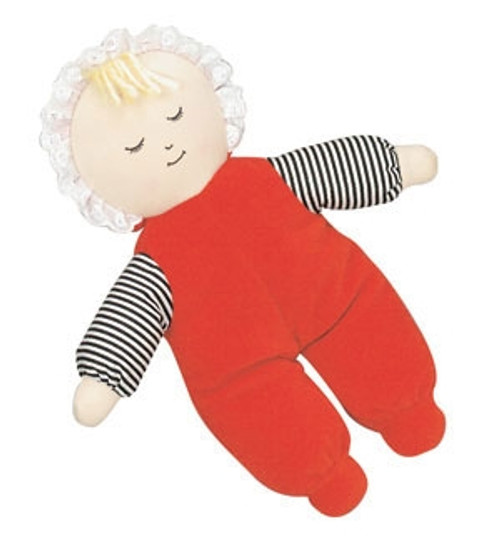Babys First Caucasian Girl Red Doll - 10 in. x 9 in. x 2 in.