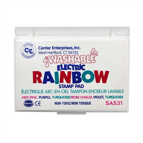 Stamp Pad Rainbow Electric 3 Colors
