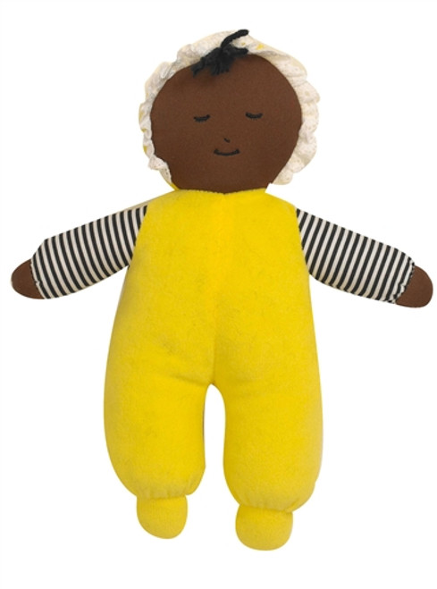 Babys First African American Girl Yellow Doll - 10 in. x 9 in. x 2 in.