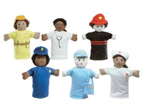 9 in. Career Hand Puppets - 11.5 in. x 8 in. x 2.5 in.