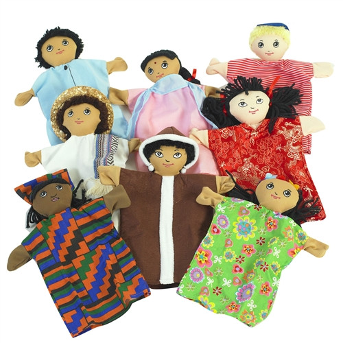 Multi-Cultural Hand Puppets - 9 in.