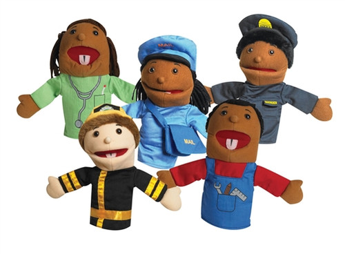 Career Puppets with Movable Mouths Set of 5 - 10 in.
