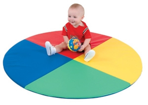 Four Color Pie Mat - 48 in. x 48 in. x 1 in.