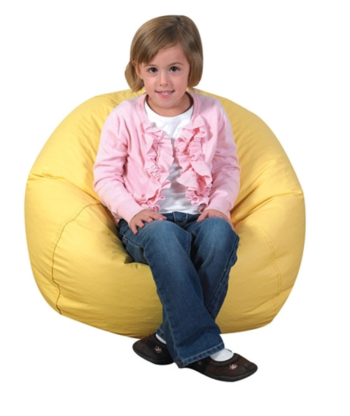 Round Yellow Bean Bag - 26 in.