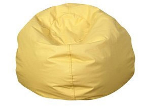 Round Bean Bag Yellow - 35 in.