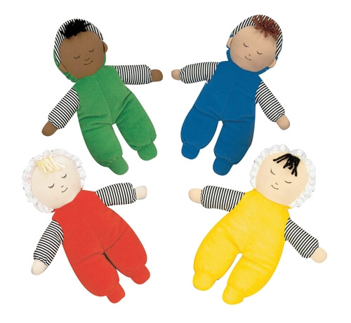 Babys First Doll Set of 4 Multi Ethnic - 10 in. x 9 in. x 2 in.