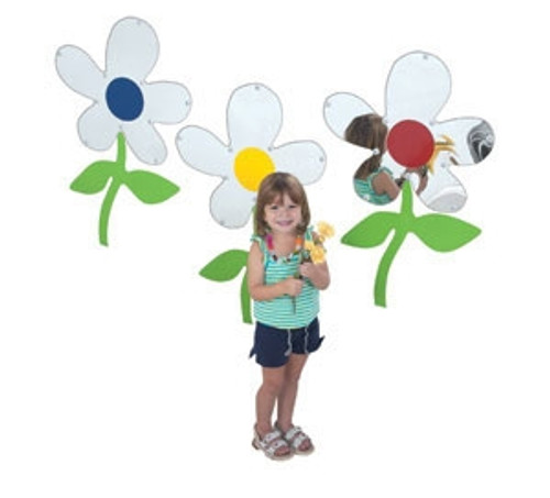 Set of 3 Flower Mirrors - 24 in. x 15 in.