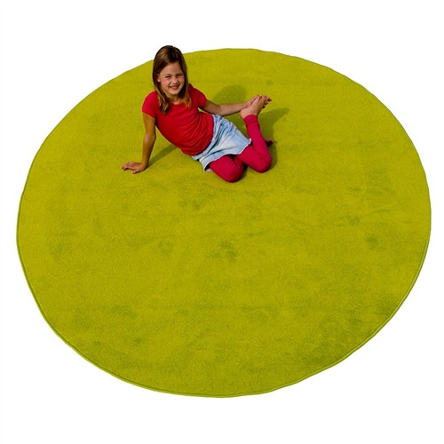 Green Solid Round Small Carpets - 78 in. x 78 in.