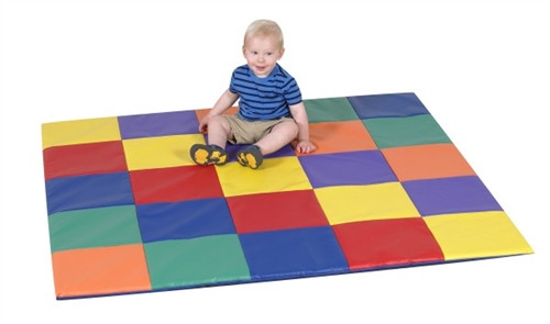 Patchwork Crawly Primary Mat - 57 in. x 57 in. x 1 in.