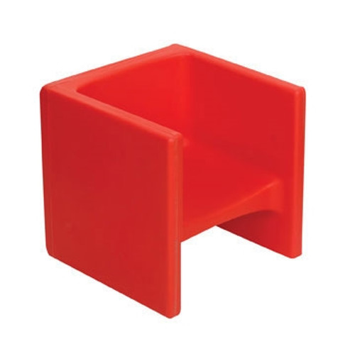 Chair Cube Red - 15 in. x 15 in. x 15 in.