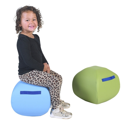 """Turtle Seat - 12"""" Blue and Green Set of 2"""