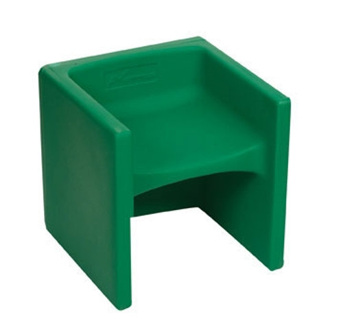 Chair Cube Green - 15 in. x 15 in. x 15 in.