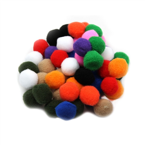 Pom Poms Assorted Colors 50ct - 1 in.