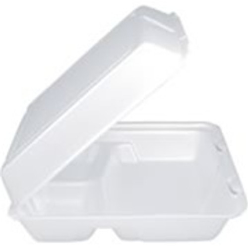 3-Comp Hinged Foam Tray with Lid