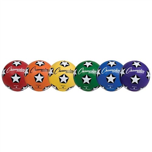 Rubber Soccer Ball Size 4 Set of 6