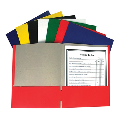Recycled Two-Pocket Paper Portfolios Assorted Color