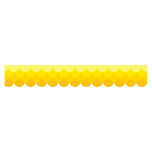 Ombre Yellow Scallops Borders Paint - 2.75 in.