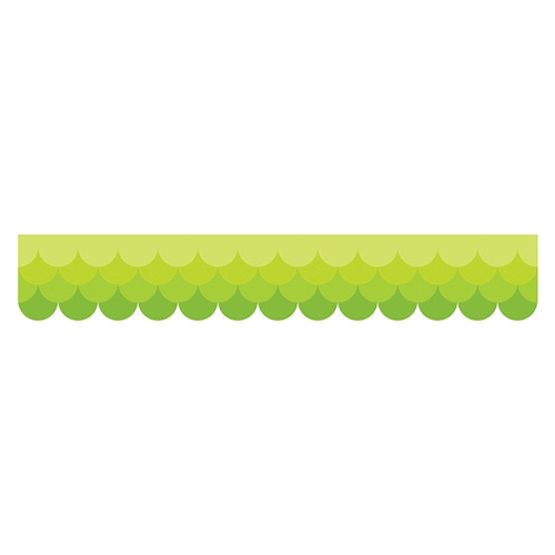 Ombre Lime Green Scallops Borders Paint - 2.75 in.