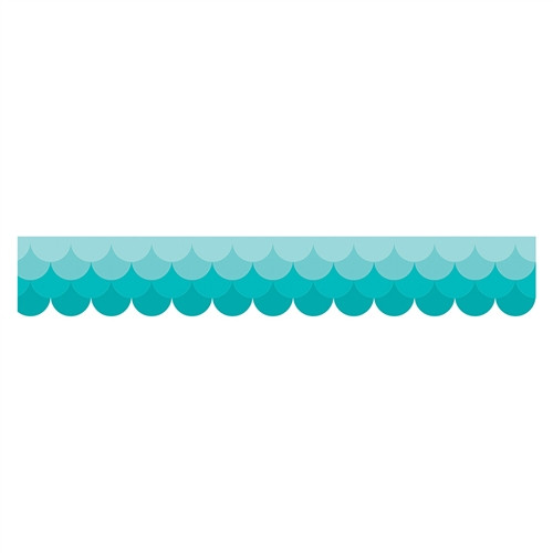 Ombre Turquoise Scallops Borders Paint - 2.75 in.