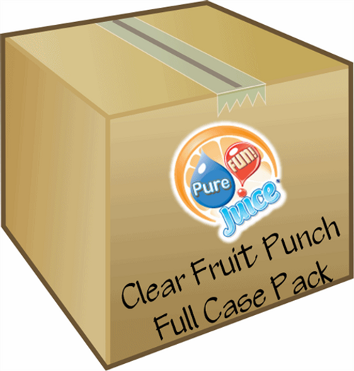 PureFUN! Clear Fruit Punch Flavored 100% CLEAR Juice Blend Concentrate - FULL CASE
