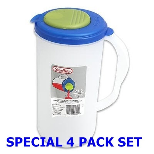 Half Gallon Mixing Container - 4 Pack