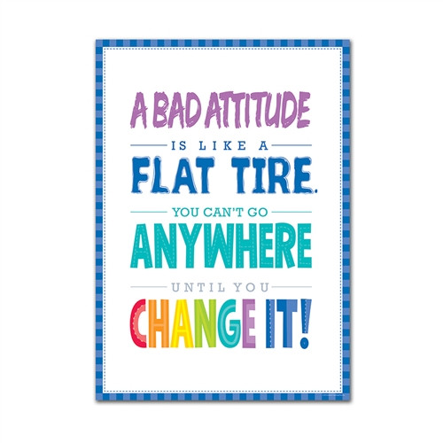 A Bad Attitude Is Inspire U Poster Paint - 13.37 in. x 19 in.