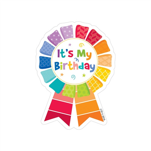 Happy Birthday Badge Painted Palette - 3 in. x 3.5 in.