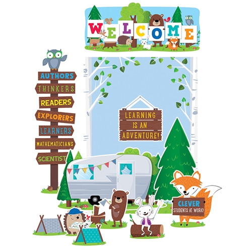Woodland Friends Welcome Bulletin Board Sets