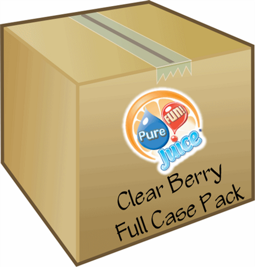 PureFUN! Berry Flavored 100% CLEAR Juice Blend Concentrate- FULL CASE