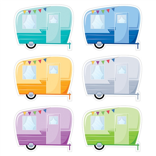 Vintage Trailers Cut Outs Woodland Friends - 6 in.