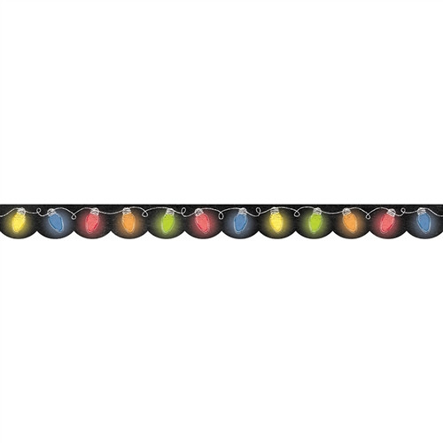 Holiday Lights In Chalk Border - 2.75 in.