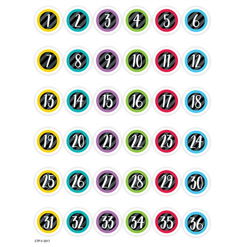 Student Numbers Stickers - 0.63 in.